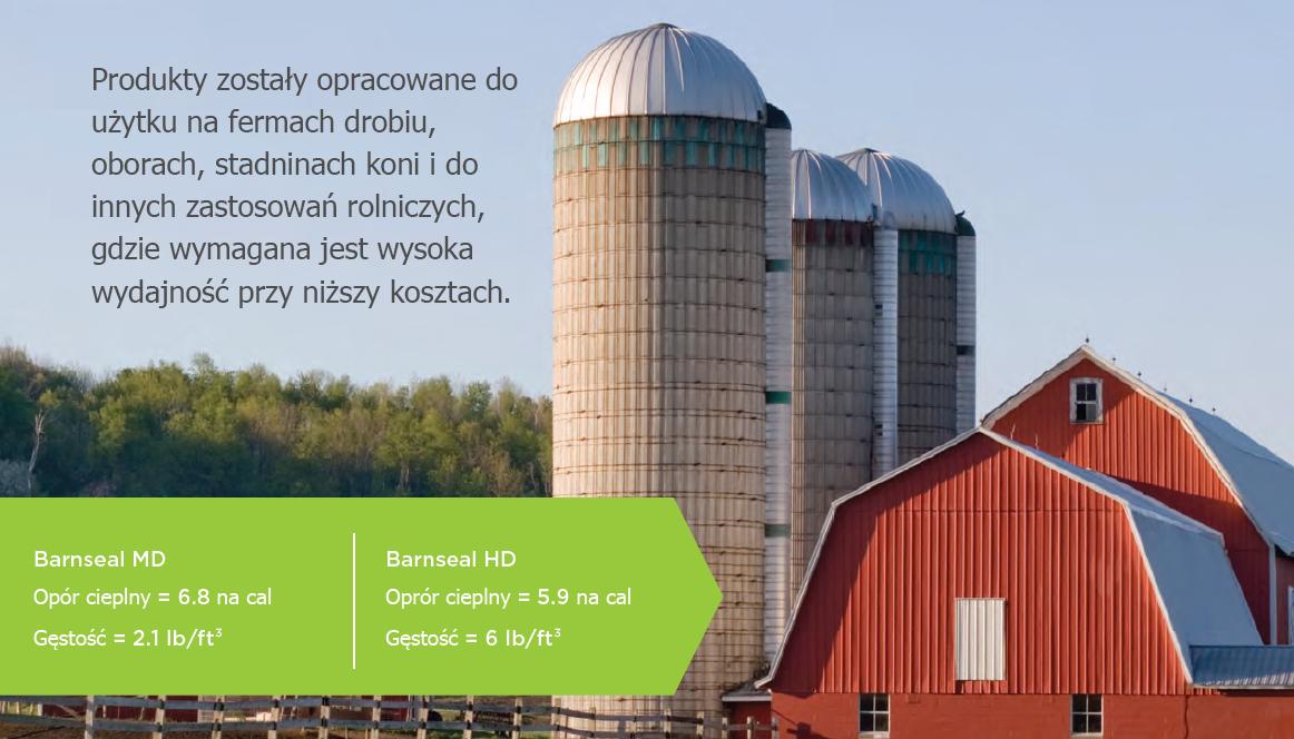 izolacje w rolnictwie
